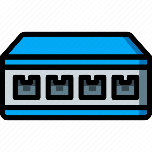 Network Equipment Icons : Equipment ethernet network office switch icon