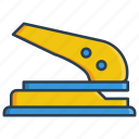 office, puncher, stationery, tool, work icon