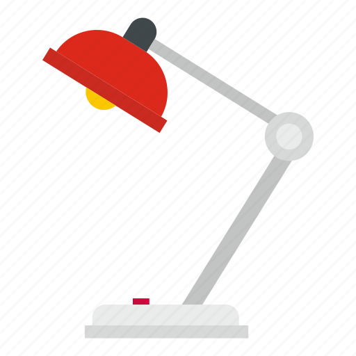 desk, electric, electricity, equipment, lamp, office, table icon