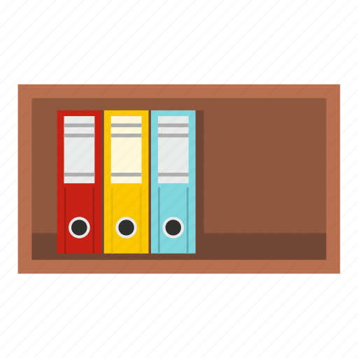 archive, business, document, file, folder, office, shelf icon
