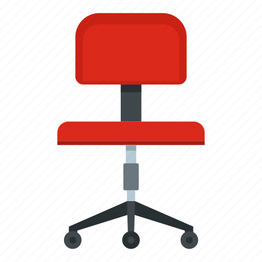 chair, comfortable, furniture, interior, nobody, office, wheel icon