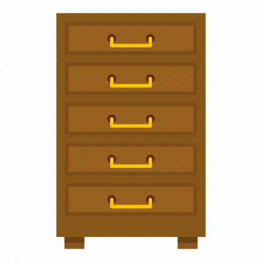 cabinet, equipment, furniture, office, room, wood, wooden icon