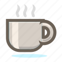 coffee, cup, drink, eating, glass, hot, kitchen, restaurant, tea icon