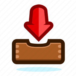 arrow, arrows, download, email, file, inbox, job, project, receive, tasks, work icon