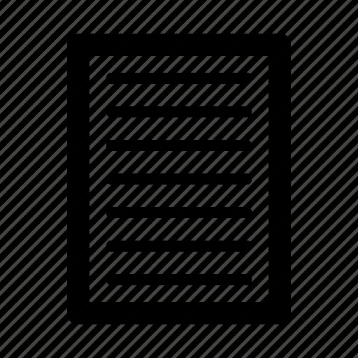 Document, job, office, secretary, work icon - Download on Iconfinder