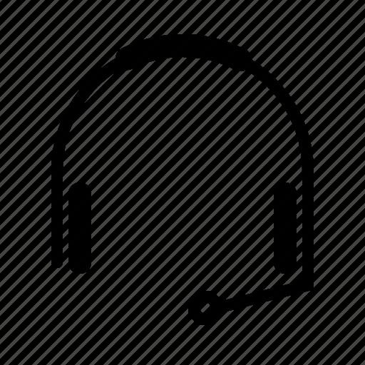 headset, job, office, secretary, work icon