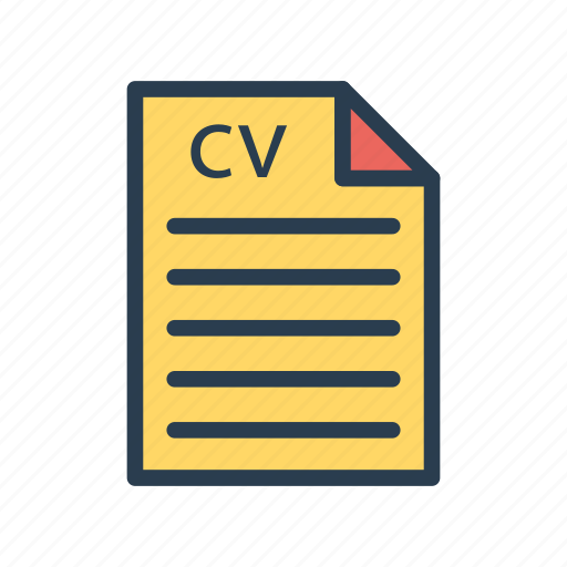 cv, document, file, page, resume icon