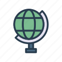 earth, global, office, steamline, world icon