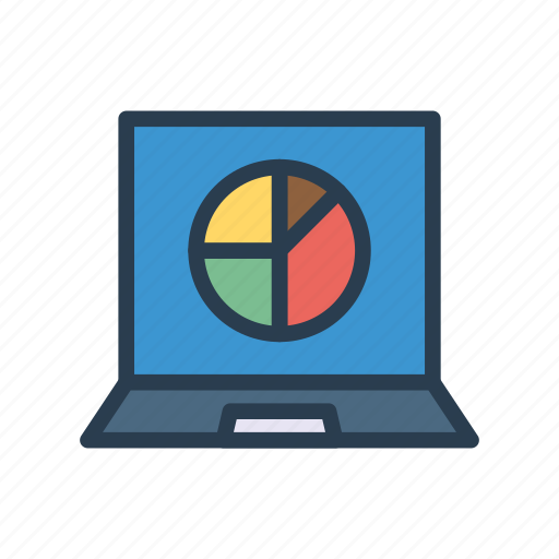 chart, computer, graph, laptop, statistic icon