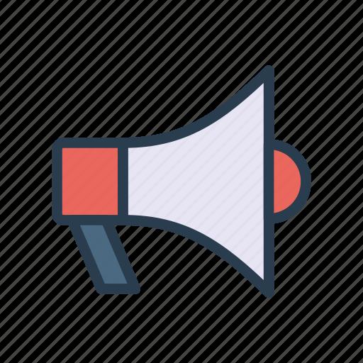 ads, loud, marketing, megaphone, speaker icon