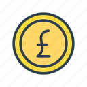 currency, earning, finance, money, pound icon