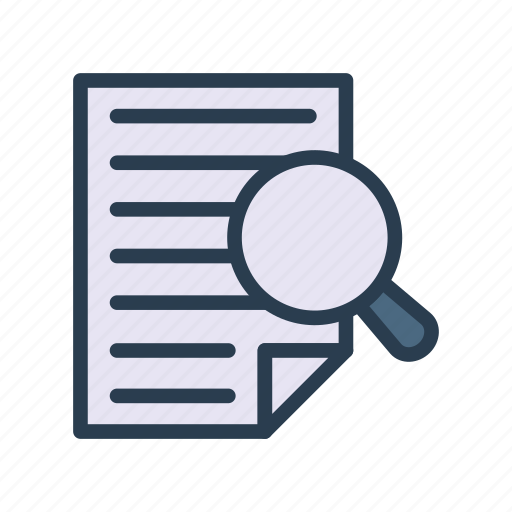 audit, document, files, research, sheet icon