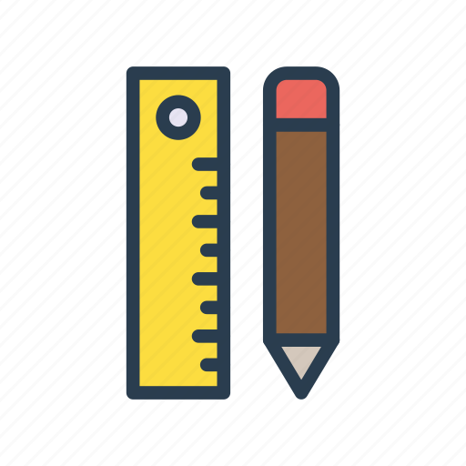 design, edit, geometry, pencil, ruler icon