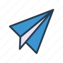 mail, message, paperplane, rocket, send icon