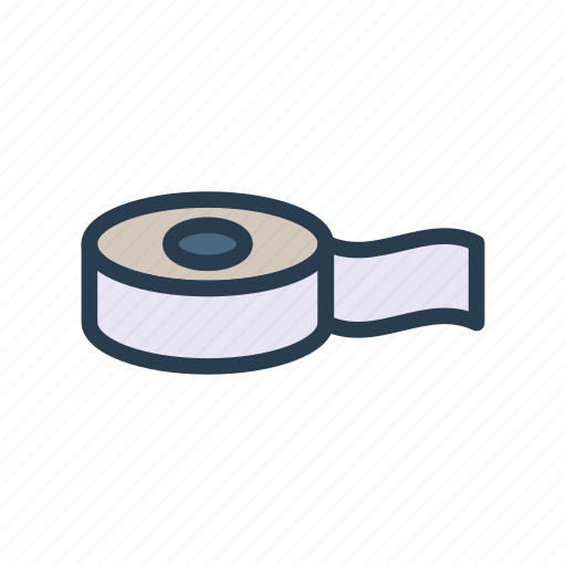 adhesive, measure, office, stationary, tape icon