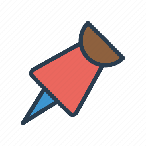 attachment, office, pin, pushpin, thumbtack icon