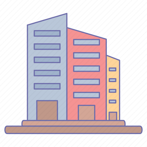 buildings, business, office, towers icon