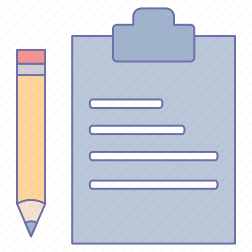 business, clipboard, office, pencil icon