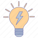 bulb, business, idea, office icon