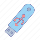 business, flsah, office, usb icon