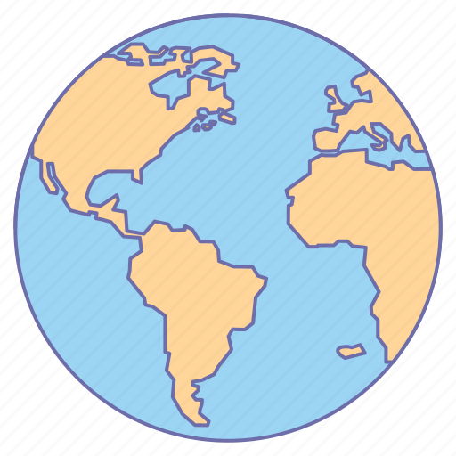 business, globe, map, office, world icon