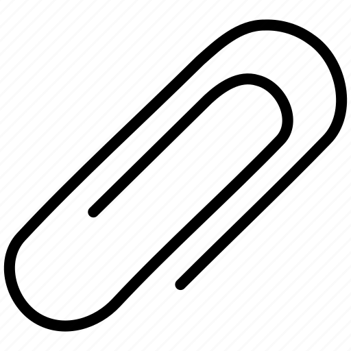 attach, attached, attachment, element, fastener, paper clip, paperclip icon