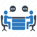business, communicate, consulting, meeting, negotiation icon