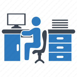 desk, office, working, workplace icon
