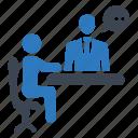 communication, help desk, infommation, meeting, receptionist icon