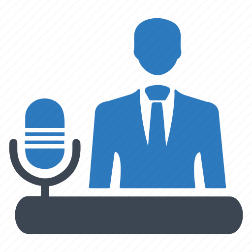 business, conference, microphone, presentation icon