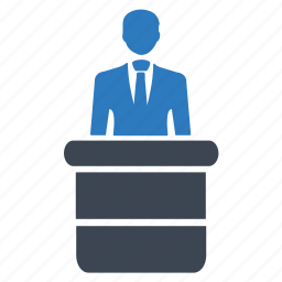 desk, info, information, presentation, receptionist icon