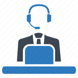 assistant, call, call center, consultant, customer support, help center icon