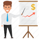 analysis graph, financial calculation., financial evaluation, income increase, strategy icon