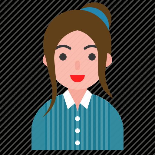 avatar, fashion, female, uniform, woman icon