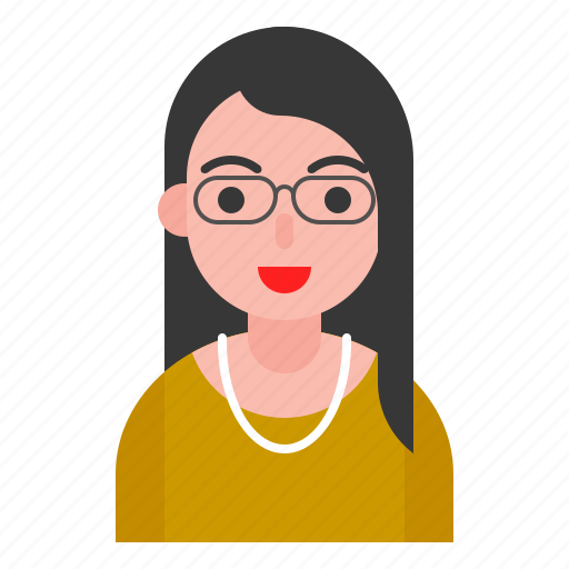 asian, avatar, female, profile, woman icon