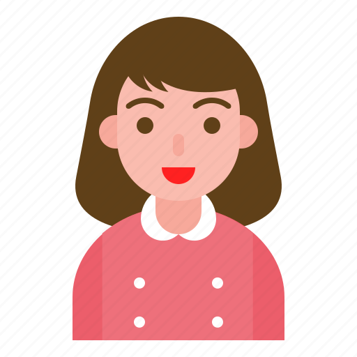 avatar, female, girl, hotel, reception, uniform icon