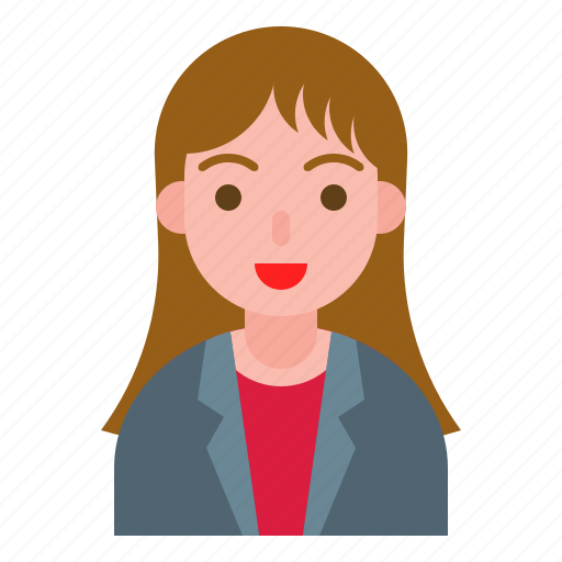 business, female, office, suit, woman icon