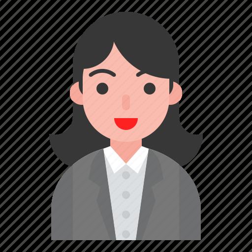 account, avatar, female, person, user icon