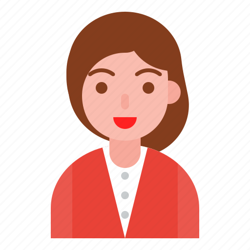 business, female, girl, human, person, user icon