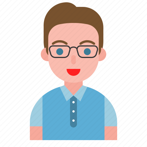avatar, glasses, male, people, user icon