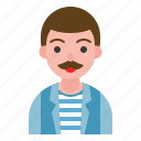artist, avatar, male, man, mustach, uncle icon