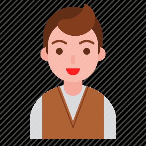avatar, emoticon, face, male, man icon