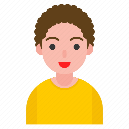 boy, curl hair, human, male, user icon