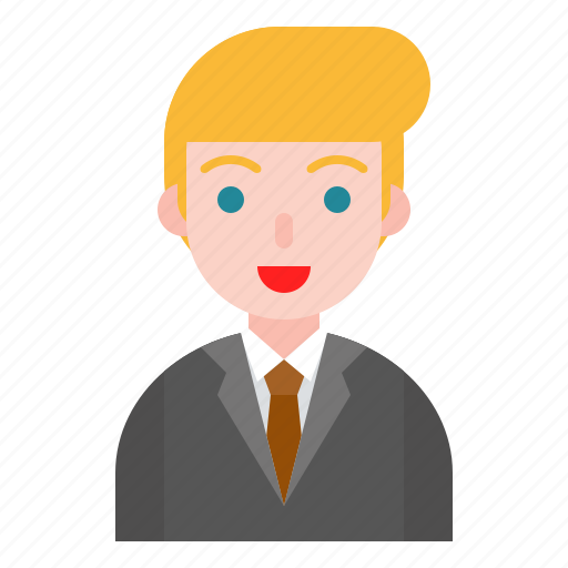 avatar, business man, male, office, suit icon
