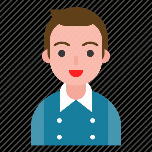 avatar, male, profile, uniform icon