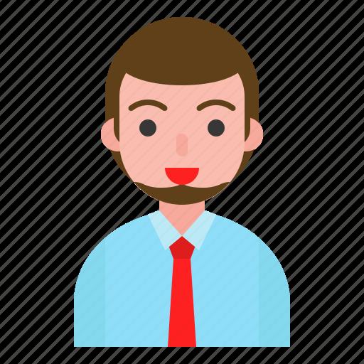 avatar, male, man, office, user icon