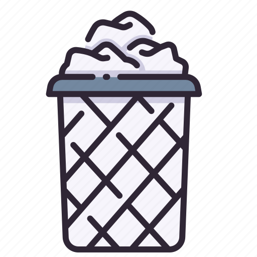 Basket, bin, garbage, paper, recycle, trash icon - Download on Iconfinder