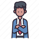 boss, business, businessman, male, office, person, suit icon
