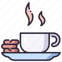 breakm, cafe, coffee, cookie, cup, drink, hot icon
