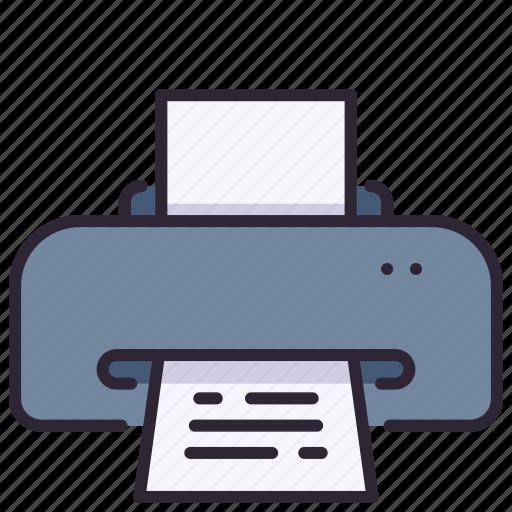 copier, document, machine, office, paper, print, printer icon